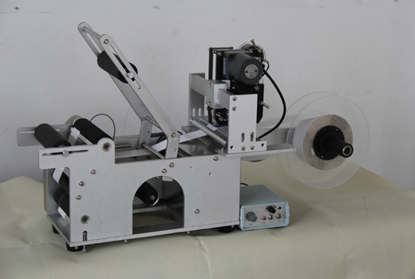 Picture of Semi-automatic Round Bottle Labeler Labeling machine with printer machine