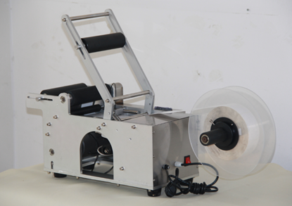 Picture of Semi-automatic Round Bottle Labeler Labeling machine