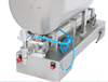 Picture of Cosmetic paste Filling Machine with mixer hopper