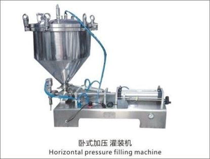 Picture of paste Filling Machine with pressure hopper