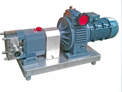 Picture of 300~800L/H milk food transfer pump food grade rotary lobe pump 0.55kw