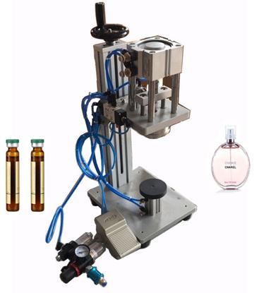 Picture of Pneumatic Perfume Crimping Machine Capper Lid Cap Locking Machine