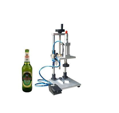 Picture of pneumatic capping manual beer bottle capping machine